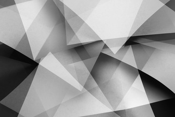 Abstract geometric composition with triangular shapes