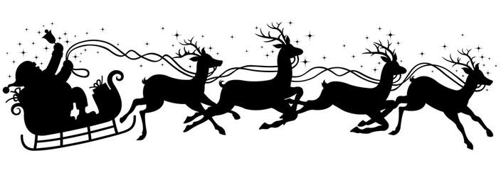 santa claus gift silhouette