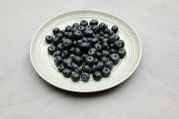 Blaubeeren auf Teller