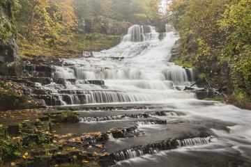 Rainy Autumn Day at Rensselaerville Falls