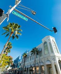 blue sky over Rodeo drive