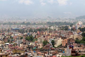 Kathmandu city, seen from the Swayambhunath Stupa on the hill