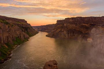Sunset at Shoshone Falls