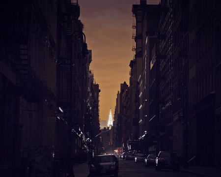 Power outage in Manhattan after Hurricane Sandy