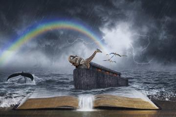 Noah's Ark Biblical Story Wall mural