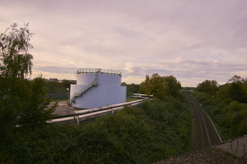 a oil tank and rails