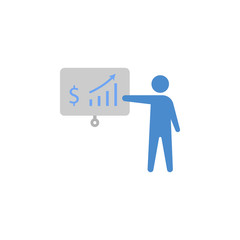 Budget, dollar, Money, presentation, profit two color blue and gray icon