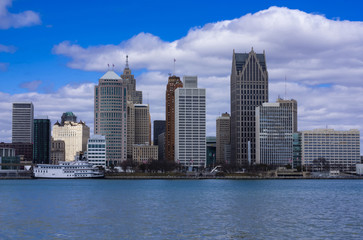 A view of Detroit downtown