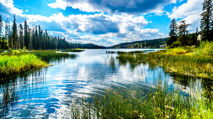 Photo sur Plexiglas Lac / Etang Sky reflecting in Lac Le Jeune - West lake near Kamloops, British Columbia, Canada