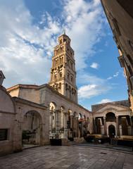 Saint Domnius Cathedral in Split, Croatia, originated in the 7th century AD in the Diocletian's Mausoleum