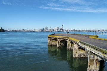 Bayswater Wharf Auckland New Zealand; Popular Fishing Spot