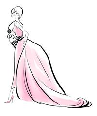 夜会ドレス ピンク