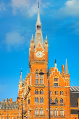 St Pancras station iin London, UK