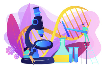 Genetic engineering concept vector illustration.