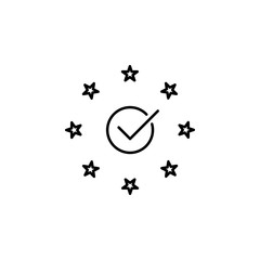 Compliance, eu icon. Element of general data project icon for mobile concept and web apps. Thin line Compliance, eu icon can be used for web and mobile