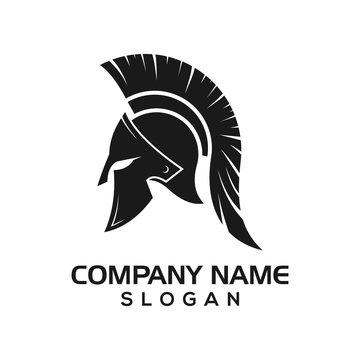 Spartan, Spartan helmet design as an icon logo template for sports, warriors, etc.