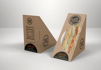 Sandwich Wedge Box Mockup