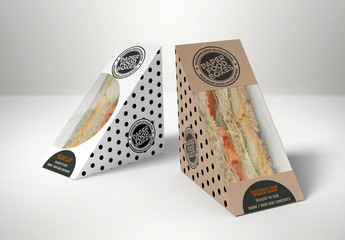 Sandwich Wedge Box Mockup