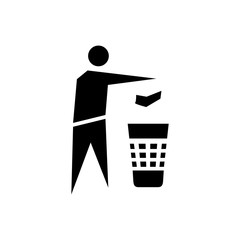 Recycle sign icon.Trash can