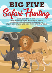 African safari hunting sport, animals