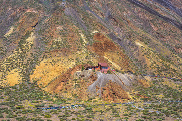 Great view in Las Cañadas del Teide National Park.  Tenerife. Canary Islands..Spain
