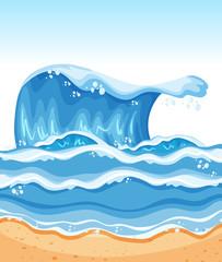 Summer beach wave background