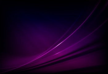 Violet dark graceful abstract background with smooth stripes.