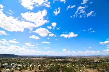 Great view from a lookout in Gayndah, Queensland, Australia.
