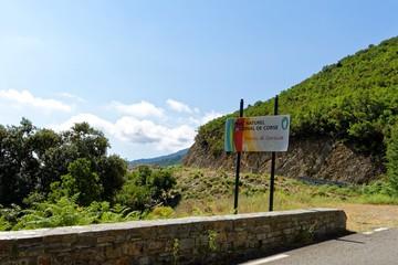 Frankreich - Korsika - Infotafel in der Castagniccia