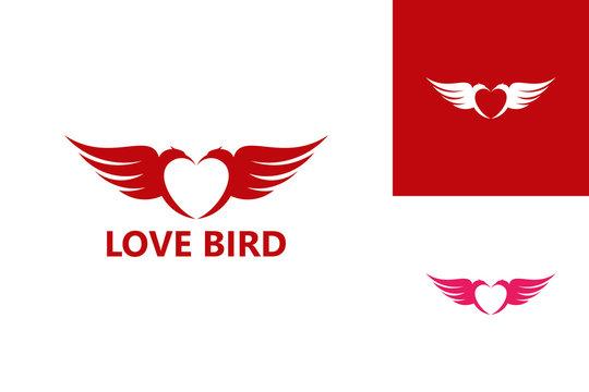 Love Bird Logo Template Design Vector, Emblem, Design Concept, Creative Symbol, Icon