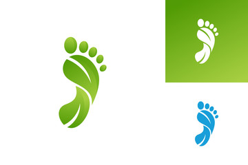 Foot Nature Logo Template Design Vector, Emblem, Design Concept, Creative Symbol, Icon