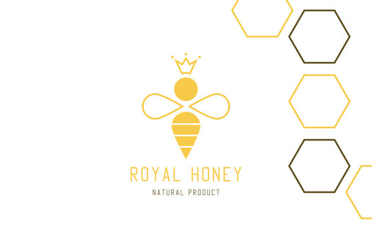 Royal bee logo design.