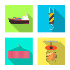 Vector design of goods and cargo symbol. Collection of goods and warehouse stock vector illustration.