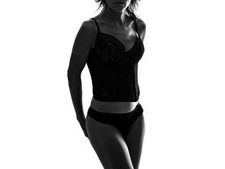 Foto op Canvas Akt Sexy woman in lingerie