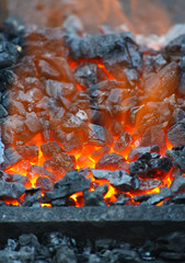 photo of burning coals