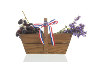 French bouquet Lavender an wine grapes