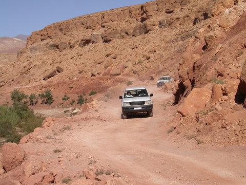 4X4 in the Atlas, Morocco (Maroc), North Africa