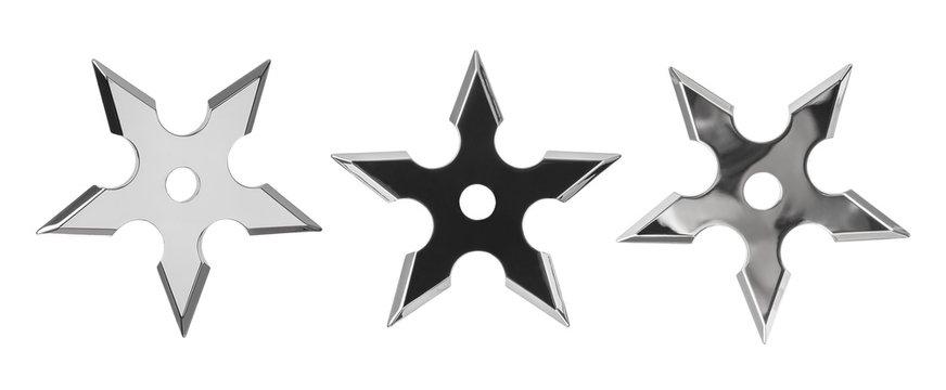 Set of ninja star shurikens