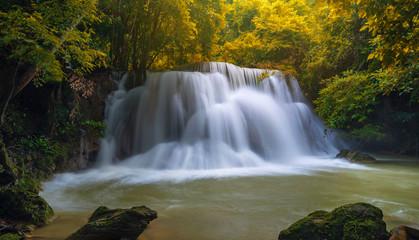 Beautiful waterfall in deep forest