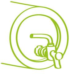 Handgezeichnetes Bierfass in hellgrün
