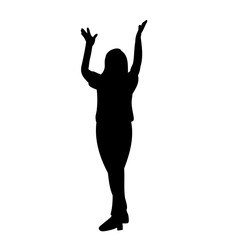 black silhouette of a woman dancing
