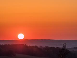 Sonnenuntergang im Vogtland