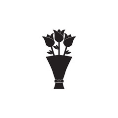 Flower bouquet vector icon