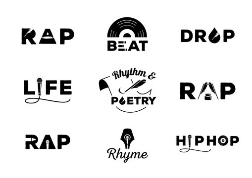 hip hop element with word design