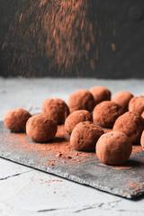 Chocolate truffles homemade