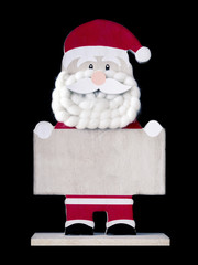 Santa Claus figure with text space