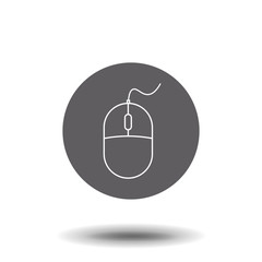 Office wireless mouse line icon