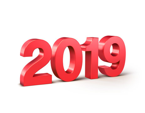 Red 2019 date number