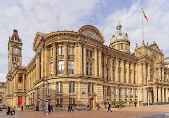 Birmingham City Council and Museum & Art Gallery on Victoria Square, UK
