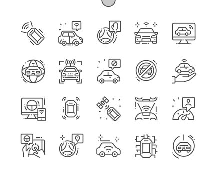 Unmanned Vehicles Well-crafted Pixel Perfect Vector Thin Line Icons 30 2x Grid for Web Graphics and Apps. Simple Minimal Pictogram